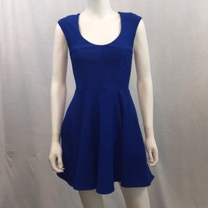 Guess brand royal blue fit n flare dress